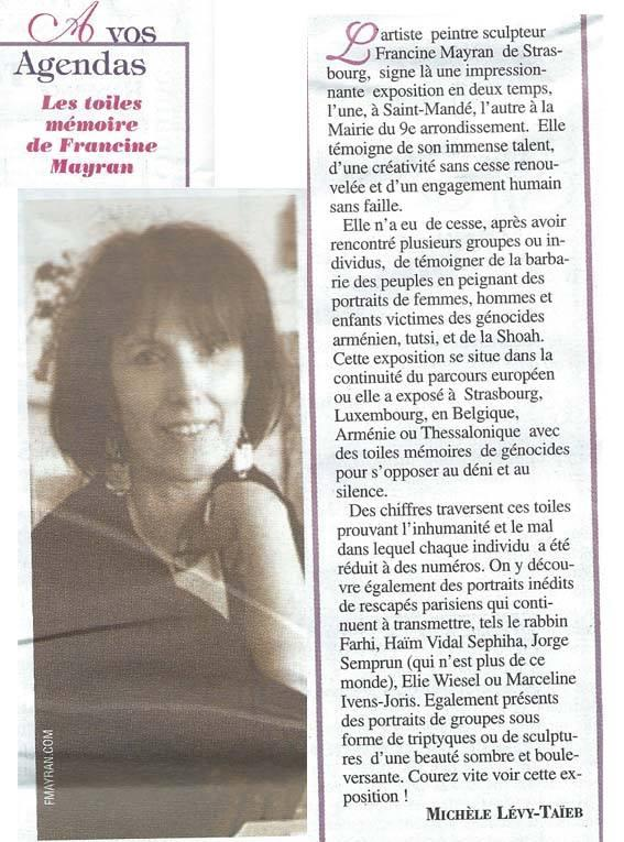 ACTUALITE JUIVE. 05/2015